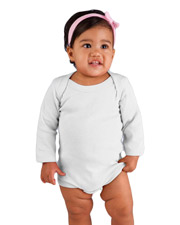 Rabbit Skins 4411  Infant LS LapShld Creeper at GotApparel