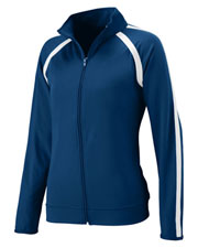 Augusta 4700 Women's Poly/Spandex Athletic Zip Pullover Jacket