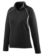 Augusta 4710 Women's Poly/Spandex Athletic Zip Pullover Jacket