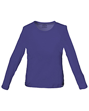 Cherokee Workwear 4818 Women Long Sleeve Crew Neck Knit Tee at GotApparel