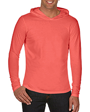 Chouinard 4900BND  4900 Men Comfort Colors Adult LongSleeve Hooded Tee at GotApparel