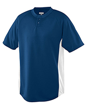 Augusta 538 Men Wicking Color Block Two-Button Jersey at GotApparel