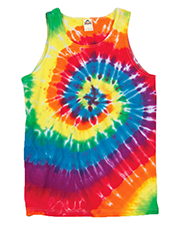 Gildan Tie-Dyes 54 Dyenomite Men Spiral Tank Top at GotApparel
