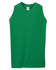 Augusta 557  Girl's Sleeveless V-Neck Poly/Cotton Jersey