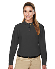 Tri-Mountain 602  Women's 60/40 Pique Long Sleeve Golf Shirt at GotApparel