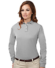 Tri-Mountain 611 Women's Cotton/Poly 60/40 Knit Long Sleeve Polo Shirt at GotApparel