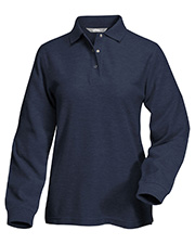 Tri-Mountain 612 Women System Long Sleeve Easy Care Knit Shirt With Snap Closure. Ideal Cook Shirt at GotApparel
