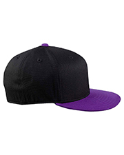 Yupoong 6210T  Unisex 210 Fitted Flat Visor Cap at GotApparel