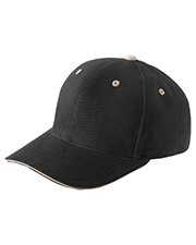 Yupoong 6262S Unisex Brushed Cotton Twill 6Panel Mid-Profile Sandwich Cap