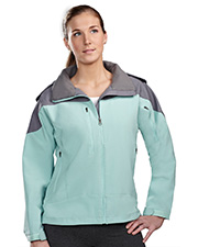 Tri-Mountain 6320  Women's Poly Stretch Bonded Soft Shell Hooded Jacket at GotApparel