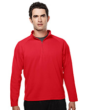 TRI-MOUNTAIN PERFORMANCE 655 Men Milestone Poly Ultracool Pique 1/4 Zip Pullover Shirt