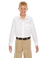 North End 67038 Boys Windsor Long Sleeve Oxford Shirt at GotApparel