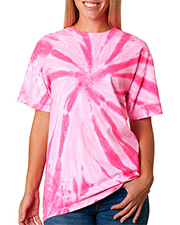 Gildan Tie-Dyes 68 Women Dyenomite Adult Neon 1-Color Pinwheel Tee at GotApparel