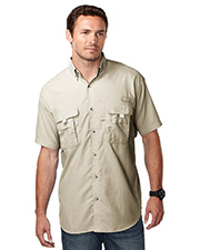 Tri-Mountain 703 Men nylon shirt with UPF protection and ventilated back. at GotApparel