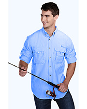 Tri-Mountain 705 Men nylon long sleeve shirt with UPF protection and ventilated back. at GotApparel