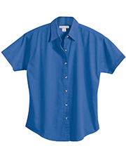 Tri-Mountain 711 Women Monarch Easy Care Short Sleeve Twill Shirt at GotApparel