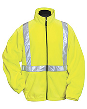 Tri-Mountain 7130   Adult Precinct-100% Polyester Anti-Pilling Safety Fleece Jacket. Ansi Class 2/Level 2 at GotApparel