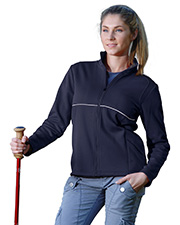 Tri-Mountain 7310 Womens 100% Polyester Micro Fleece Knit Jacket, w/ Piping & Reflective at GotAppar