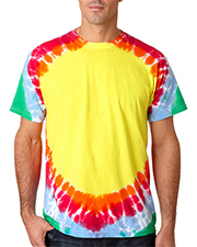 Gildan Tie-Dyes 74  Adult Teardrop Rainbow Tee at GotApparel