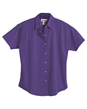 Tri-Mountain 761 Women Apprentice Stain Resistant Short Sleeve Twill Shirt at GotApparel