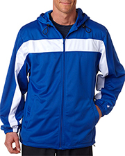Badger 7705  Full-Zip Hood Tricot Jacket.  at GotApparel