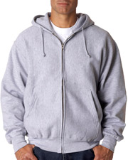 Weatherproof 7711 Men Cross Weave FullZip Hooded Sweatshirt