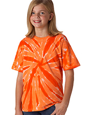 Gildan Tie-Dyes 77B  Youth One-Color Pinwheel Tee at GotApparel