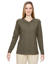 North End 78221   Women Ladies' Excursion Nomad Performance Waffle Henley at GotApparel