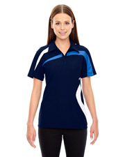 North End 78645 Women's Impact Performance Polyester Pique Colorblock Polo