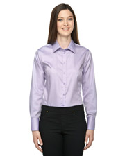 North End 78673 Women Boulevard Wrinkle Free TwoPly 80 Cotton Dobby Taped Shirt with Oxford Twill