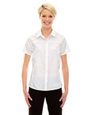 North End 78675   Women Ladies' Charge Recycled Polyester Performance ShortSleeve Shirt at GotApparel