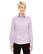 North End 78689   Women Ladies' Refine WrinkleFree TwoPly 80's Cotton Royal Oxford Dobby Taped Shirt at GotApparel