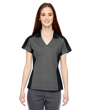 North End 78692 Women Ladies' Merge Cotton Blend Mélange Polo