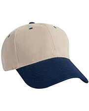 KC Caps 8090T Two Tone Brushed Cotton Cap at GotApparel