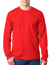 Bayside 8100  Adult USA-Made Long-Sleeve Tee with Pocket at GotApparel
