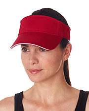 UltraClub 8113  Classic Cut Brushed Cotton Twill Sandwich Visor at GotApparel