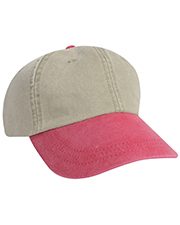 KC Caps 8130T Two Tone Garment Washed Cap at GotApparel