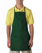 UltraClub 8204  Unisex 2Pocket Adjustable Apron at GotApparel