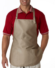 UltraClub 8205  Three-Pocket Apron with Buckle at GotApparel