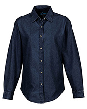 Tri-Mountain 822  Women's Denim Long Sleeve Shirt at GotApparel