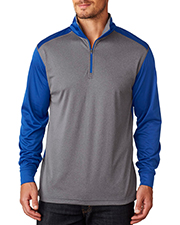 UltraClub 8232    ® Adult Cool & Dry Sport 2-Tone 1/4-Zip Pullover  at GotApparel