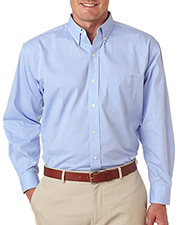 UltraClub 8360  Mens Long-Sleeve Performance Pinpoint at GotApparel