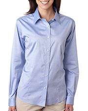 UltraClub 8381   Women Ladies' NonIron Pinpoint at GotApparel