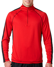 UltraClub 8398 Men Cool & Dry Sport 1/4-Zip Pullover with Side & Sleeve Panels at GotApparel