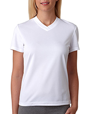 UltraClub 8400L  Ladies V-Neck Tee at GotApparel