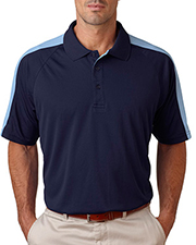 UltraClub Adult Cool-N-Dry™ Sport Shoulder Block Polo