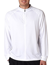 UltraClub 8432 Men Cool & Dry Sport 1/4Zip Pullover with Side Panels at GotApparel