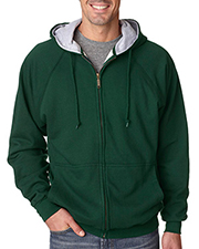 UltraClub 8463 Men's Rugged Wear ThermalLined Full Zip Hooded Fleece at GotApparel