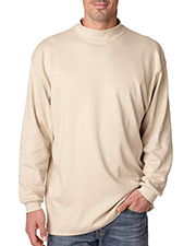 UltraClub 8510 Men Egyptian Interlock Long Sleeve Mock Turtleneck at GotApparel