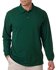 UltraClub 8532  Adult Long-Sleeve Classic Pique Polo at GotApparel